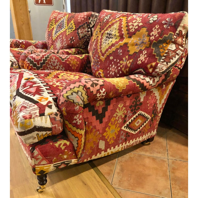 English George Smith Kilim Chairs - a Pair For Sale - Image 3 of 5