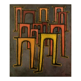 "1990 Paul Klee ""Revolution of the Viaduct"", First German Edition Poster For Sale"