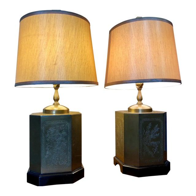 Frederick Cooper Style Table Lamps - a Pair For Sale