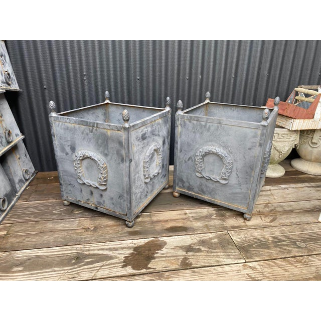 Steel Planters - a Pair For Sale - Image 11 of 11