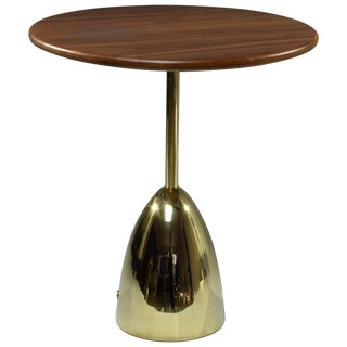 Unio Contemporary Brass Charging Side Table, Flow Collection For Sale