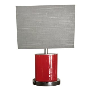 Red Contemporary Modern Table Lamp For Sale