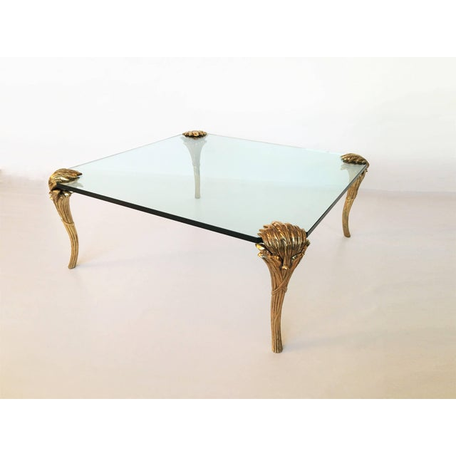 Gold p.e Guerin Gilt Bronze and Glass Coffee Table For Sale - Image 8 of 8