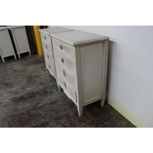 Early 20th Century 20th Century Vintage Swedish Gustavian Style Nightstands-A Pair For Sale - Image 5 of 11