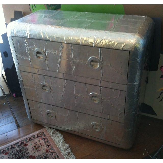 This is a very cool contemporary three drawer chest. It's unique, one of a kind and a very rare find! It is perfect for an...