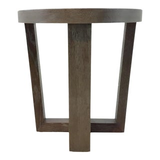 Modern Taupe Round End Table Prototype For Sale