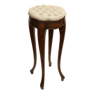 Country French Pedestal Stool For Sale