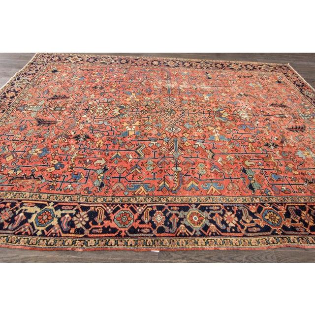 """Apadana - Vintage Persian Heriz Rug, 9'4"""" x 12'5"""" - Image 7 of 7"""