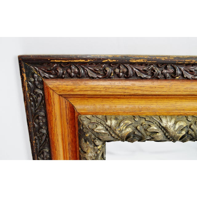 Decorative Wood Gesso Mirror - Image 5 of 11