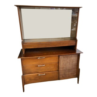 1952 Mid-Century Haywood Wakefield Dining Hutch For Sale