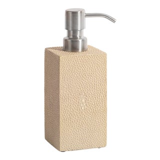 Natural Soap Dispenser Faux Skin Shagreen For Sale
