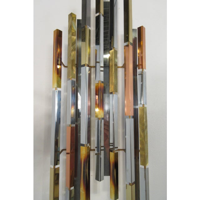 1970s MIX Metal Wall Sculpture For Sale In New York - Image 6 of 11