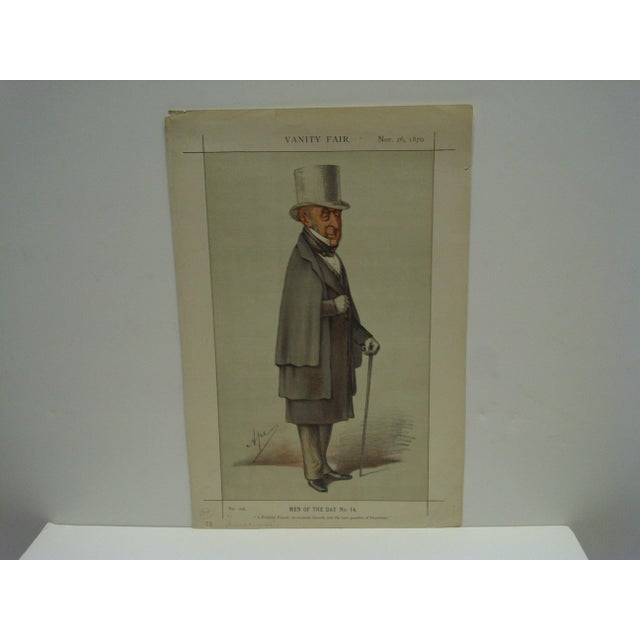 "This is a Vintage Vanity Fair Print -- Men Of The Day No. 14 -- Titled ""A Faithful Friend"" -- Dated November 26, 1870 --..."