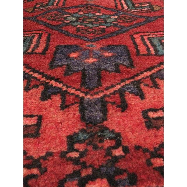 "Vintage Hamadan Persian Rug - 4'6"" X 10'10"" - Image 2 of 2"