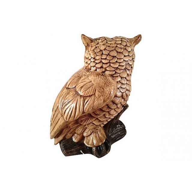 Mid-Century Ceramic Owl Lamp - Image 3 of 10