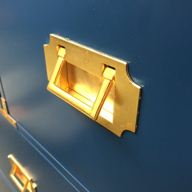 Blue Campaign Style Chest of Drawers - Image 6 of 7
