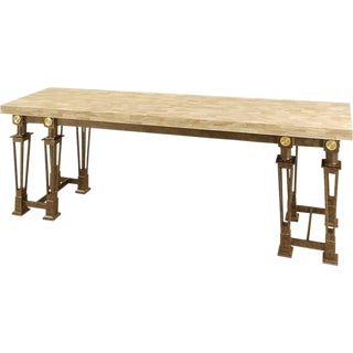 Maitland -Smith Stone and Iron Buffet Table For Sale