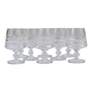 Mid Century Hadeland of Norway Crystal Brandy Glasses- Set of 8 For Sale