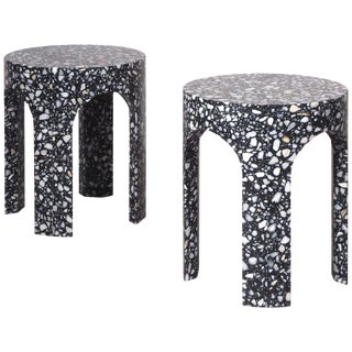 Pair of Side Tables, Loggia Terrazzo For Sale