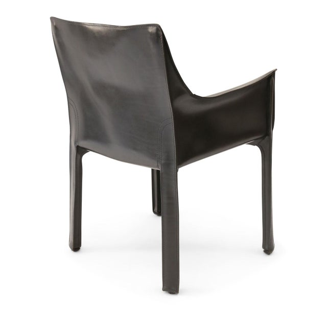Cassina Six Mario Bellini Cab 413 Armchairs For Sale - Image 4 of 9