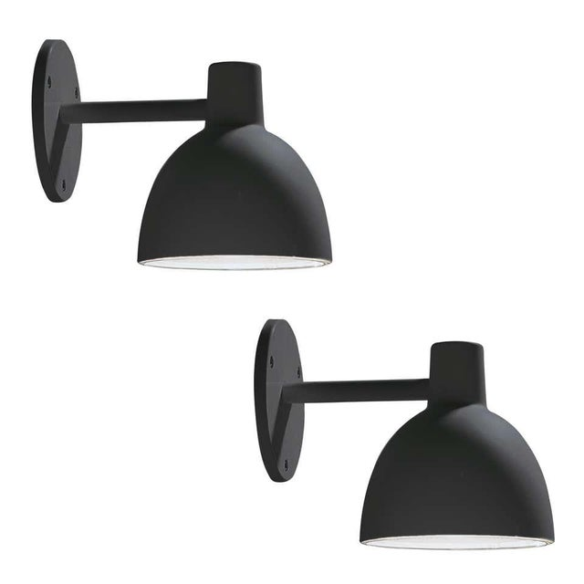 """Louis Poulsen 'Todbold' Outdoor Wall Light in Black. The Toldbod 6.1"""" Wall was launched in 2006, with a design based on..."""