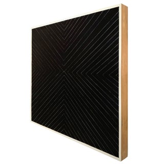 Contemporary Black Geometric Abstract Painting Preview
