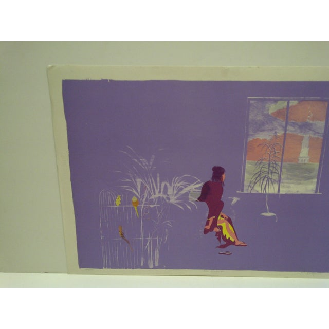 """Mid-Century Modern Carl Hodges """"Mrs. Mortenson"""" Limited Edition Print For Sale - Image 3 of 7"""