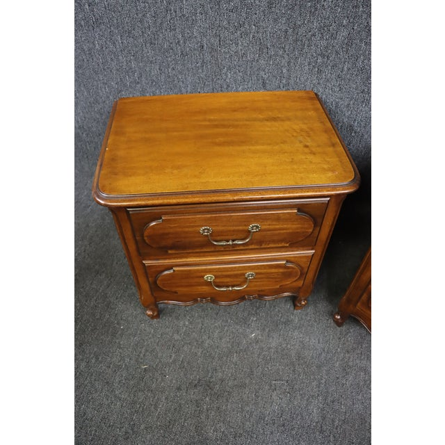 Mid 20th Century Louis XV Style Fruitwood Nightstands- a Pair For Sale - Image 5 of 7