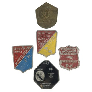 French Aluminum Agricultural Awards - Set of 5 For Sale