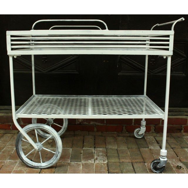 1940s Vintage Wrought Iron Patio Bar Cart For Sale - Image 10 of 10