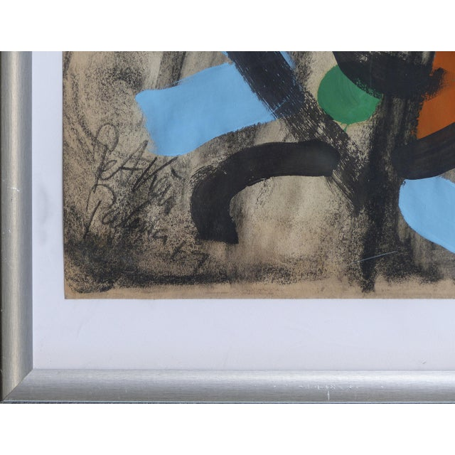 Mid-Century Modern 1960s Abstract Mixed Media Painting by Peter Robert Keil For Sale - Image 3 of 9