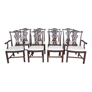 Henredon Chippendale Mahogany Dining Room Chairs- Set of 8 For Sale
