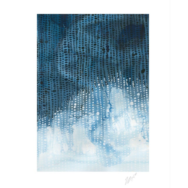 "Contemporary ""Squall IV"" Watercolor Giclee Print For Sale - Image 3 of 3"