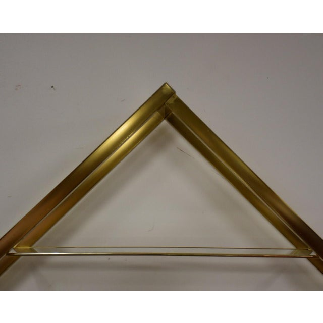 Hollywood Regency Milo Baughman Style Brass Etagere For Sale - Image 3 of 9