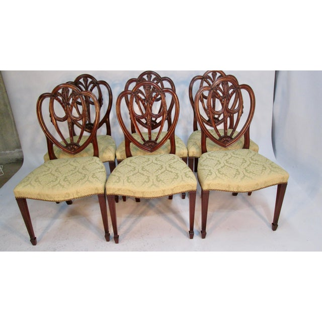 1940s 1940s Vintage Custom Made Mahogany Chairs- Set of 6 For Sale - Image 5 of 10