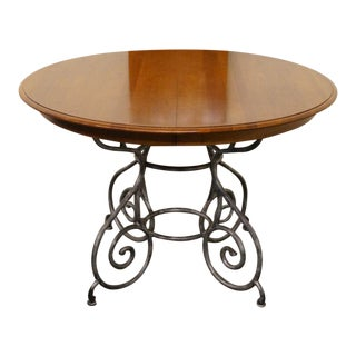Late 20th Century Vintage Ethan Allen Maison Collection Dining Table For Sale