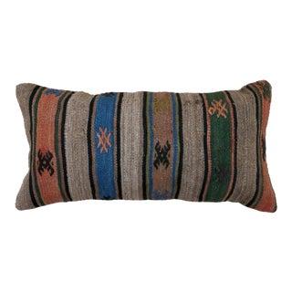 1960s Vintage Kilim Lumbar Pillow For Sale