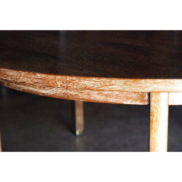 Dunbar Furniture Edward Wormley for Dunbar Cerused Oak Coffee Table For Sale - Image 4 of 8