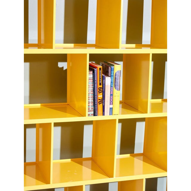 Contemporary Michael Felix Yellow Powder-Coated Metal Shelves For Sale - Image 3 of 10