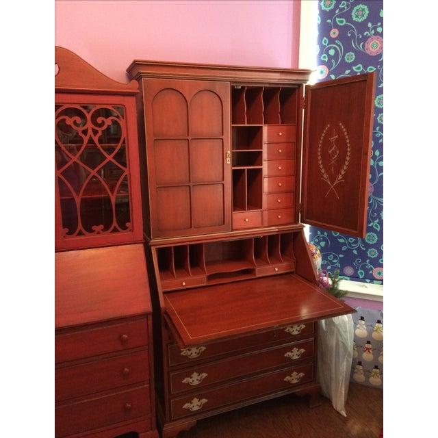 Antique Music Themed Secretary Desk - Image 4 of 11