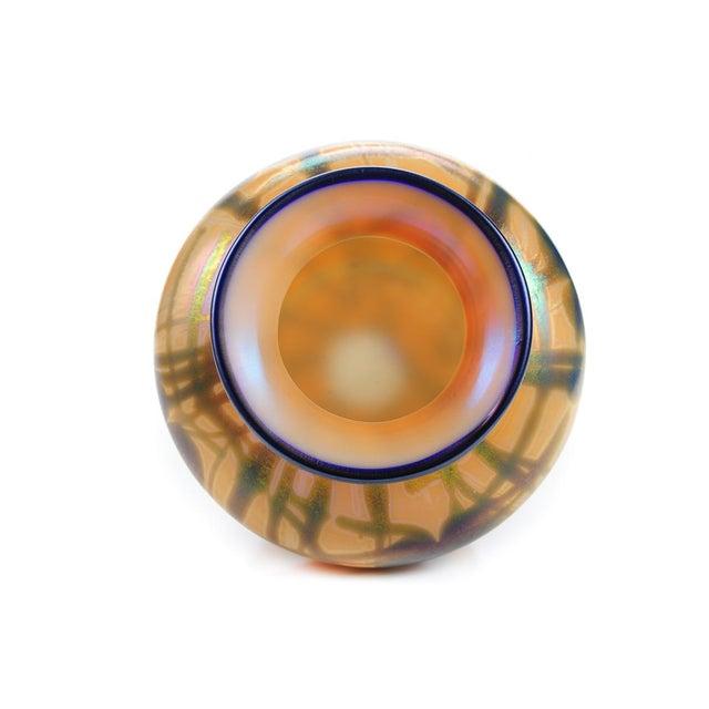 Orange Imperial Art Glass Heart & Vine Decor Vases- A Pair For Sale - Image 8 of 9