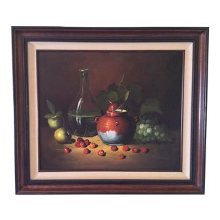 Mid-Century Frank Lean Still Life in Oil For Sale