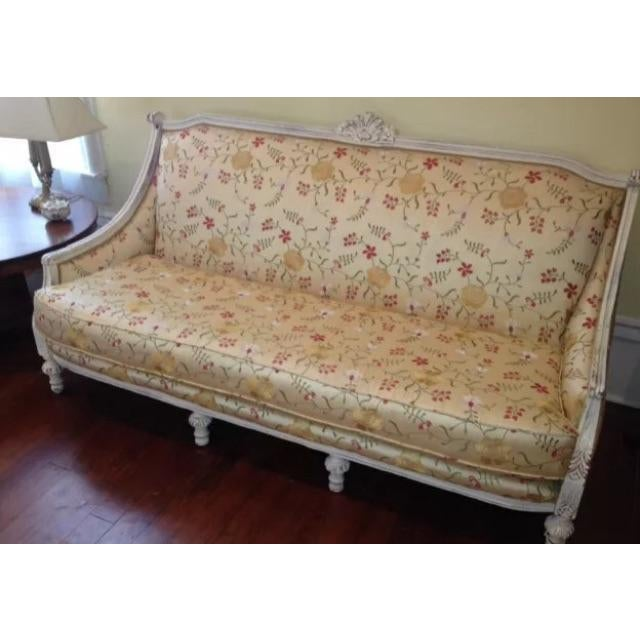 Antique Louis XVI Style French Settee - Image 3 of 9