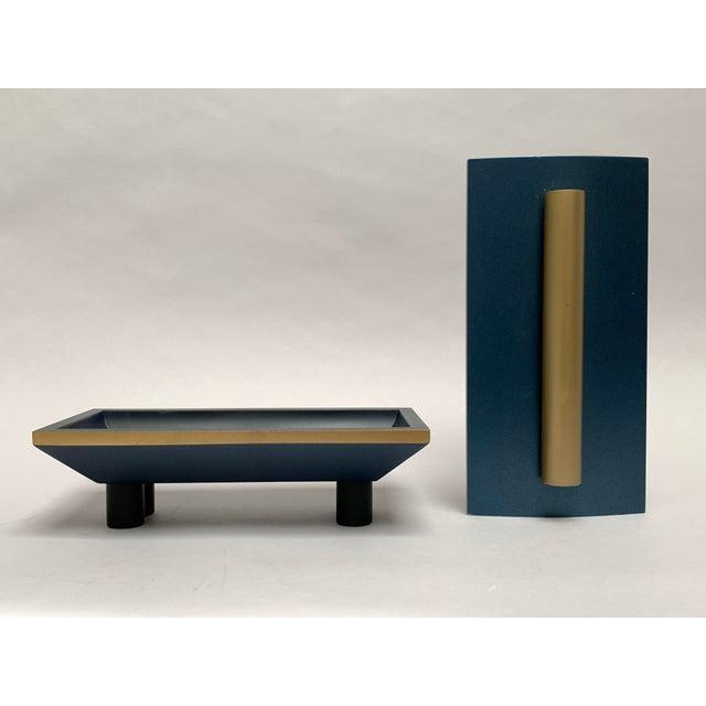 1980s Vintage Postmodern Memphis Style Artisan Wood Lidded Box For Sale - Image 5 of 13