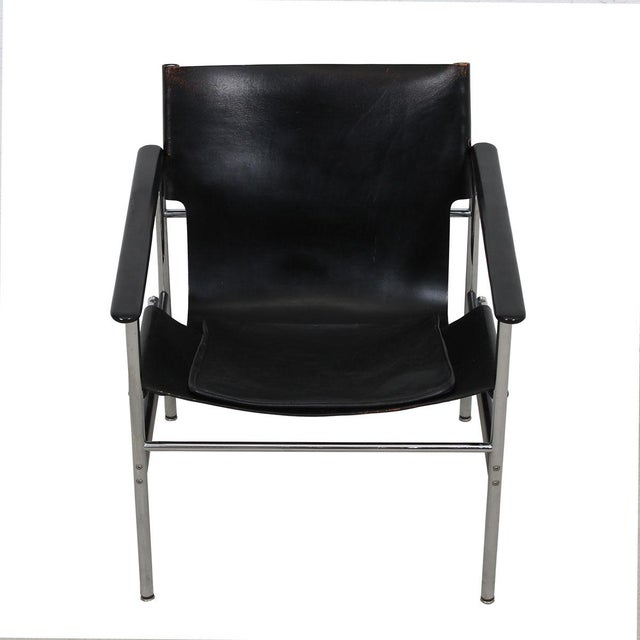 Leather & Chrome Sling Chair, #657, by Charles Pollack for Knoll For Sale - Image 10 of 10