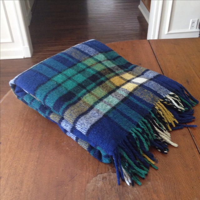 Plaid Wool Tailgate/Picnic Blanket - Image 3 of 11