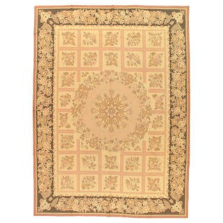 "Modern Aubusson Rug - 8'4"" X 11'5"" For Sale"
