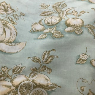 Tyler Hall French Market Exclusive Pattwell Blue Fruits Fabric For Sale