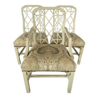 Clive Daniel Fretwork Chairs - Set of 3 For Sale