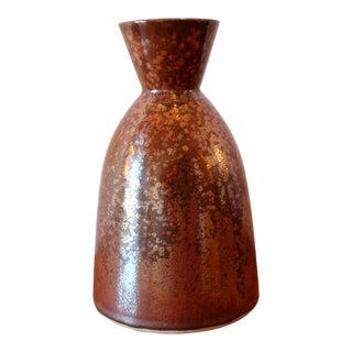 Unique Red Glaze Studio Pottery Ceramic Vessel For Sale